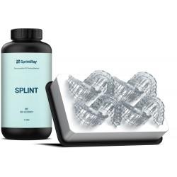 Bouteille de résine Sprintray Splint et exemple d'impression