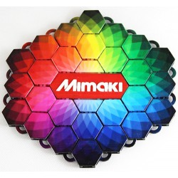Impresion avec Mimaki 3DUJ-2207 présentant l'échelle colorimétrique