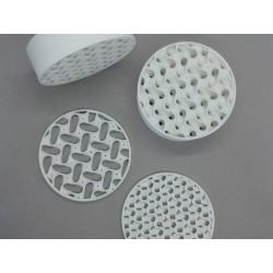 Pièces imprimées en alumine de Zetamix