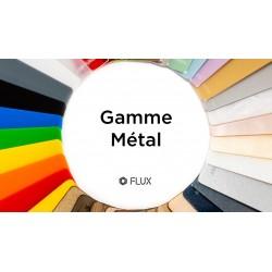 Gamme  de matériaux acryliques pour découpe laser, couleurs métal
