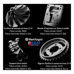 Imprimante 3D Métal Markforged Metal X impressions métal pièces techniques