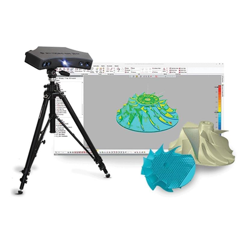 Scanner 3D à lumière structurée EVIXSCAN Heavy Duty Quadro