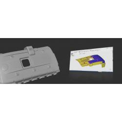 Scanner 3D portable à lumière structurée Einscan Pro 2x, reverse engineering