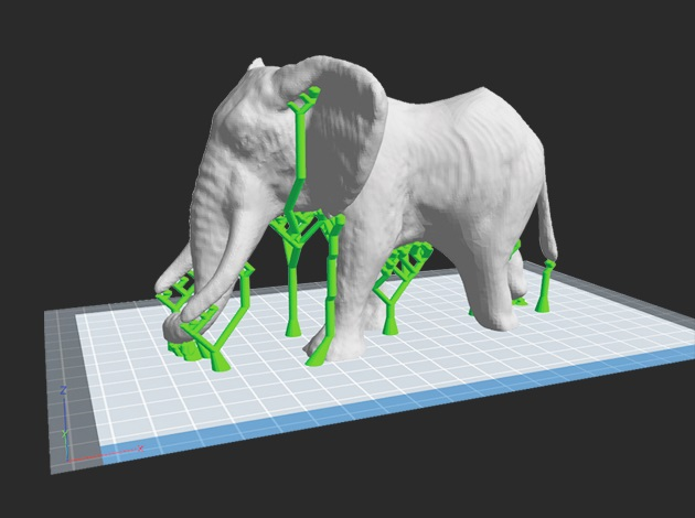 FLASHFORGE Inventor support impression