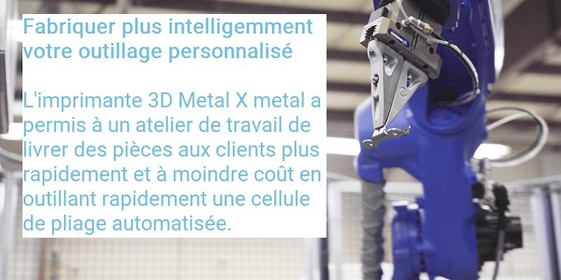 MARKFORGED Metal X impression outil personnalisé